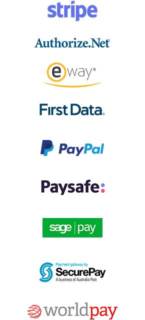 Worldwide gateways available and Stripe verified partner