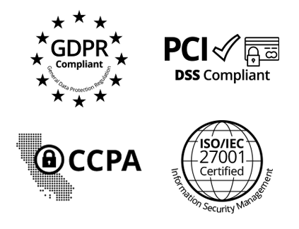 Safe and secure awards management software compliant with GDPR, PCI DSS, CCPA and ISO 27001 certified